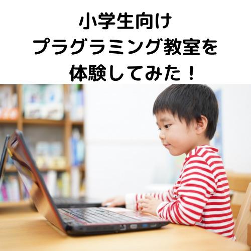 小学生向けプログラミング教室を体験してみた